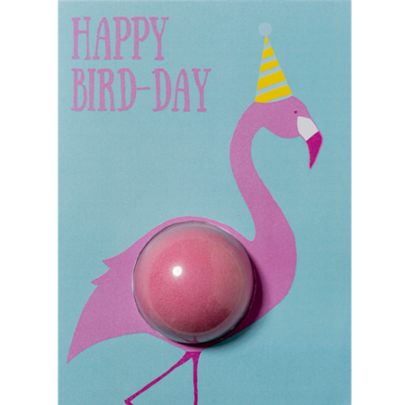 Kartka z kulką kąpielową HAPPY BIRD-DAY – Bomb Cosmetics